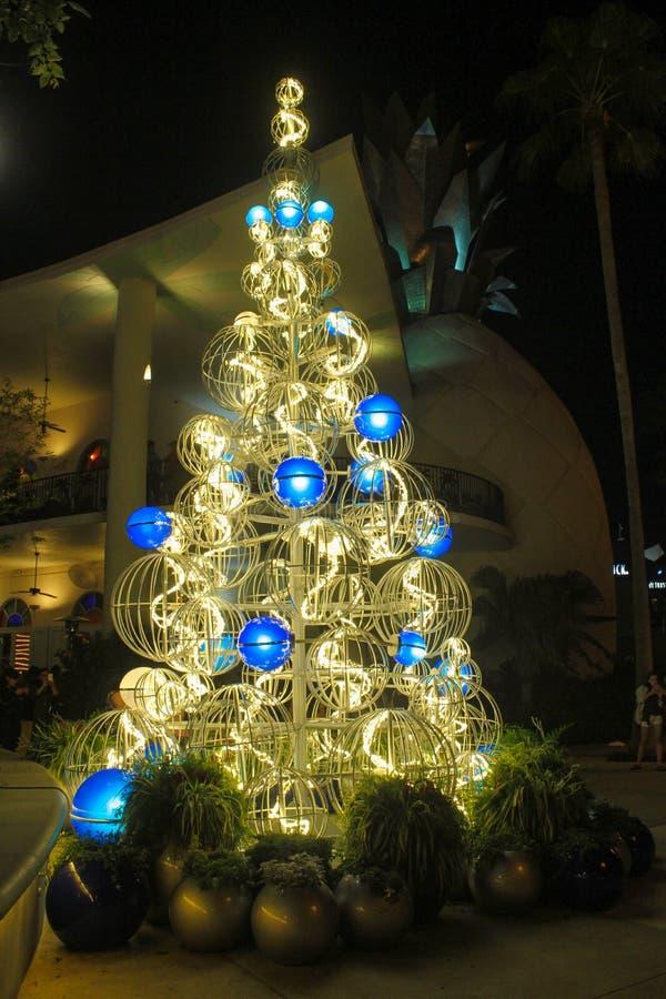 Kerstboom in Disney-de Lentes, Orlando, Florida stock afbeeldingen
