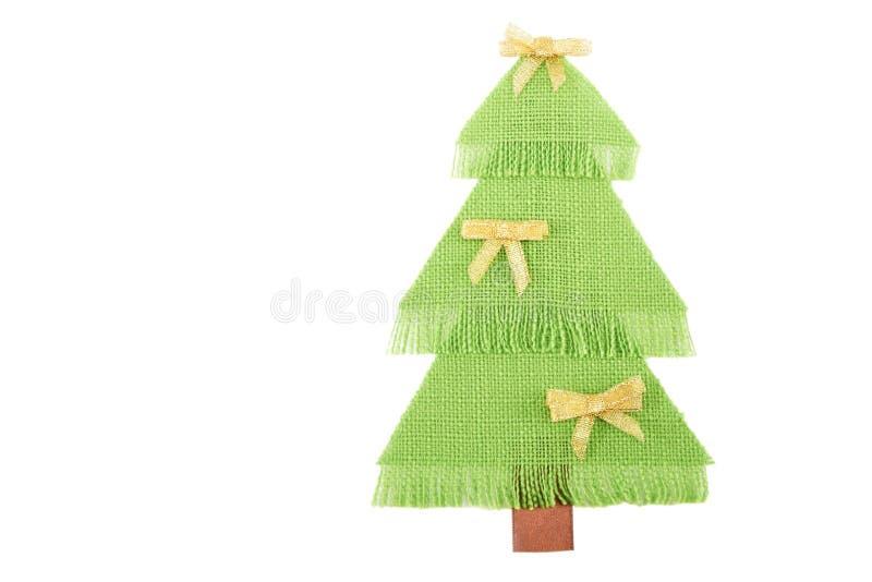 Kerstboom Gemaakte ââof Groene Stof. Stock Foto's