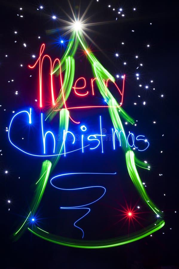 Kerstboom - Lichte het Schilderen Samenvatting royalty-vrije stock foto