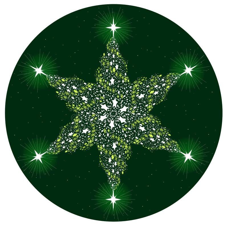 Kerstboom Mandala vector illustratie