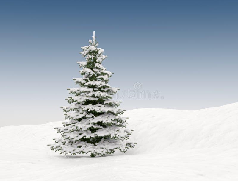 Kerstboom met sneeuw vector illustratie
