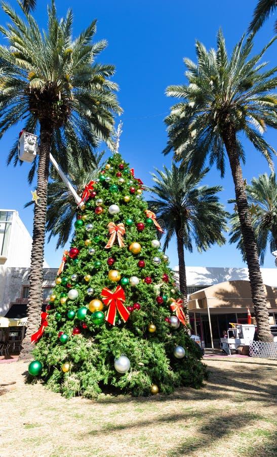 Kerstboom in Miami stock foto