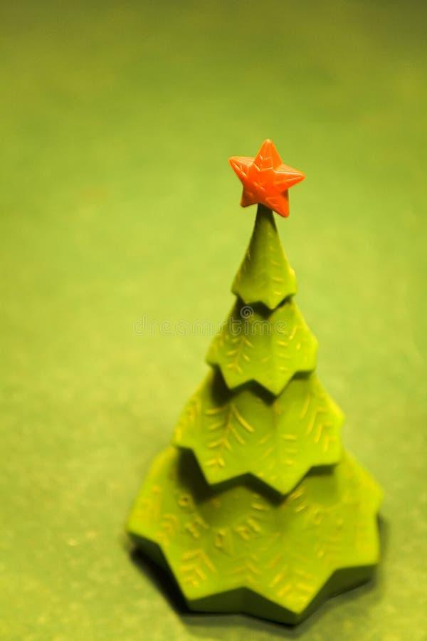 Kerstboom op een biljartlijst royalty-vrije stock foto's