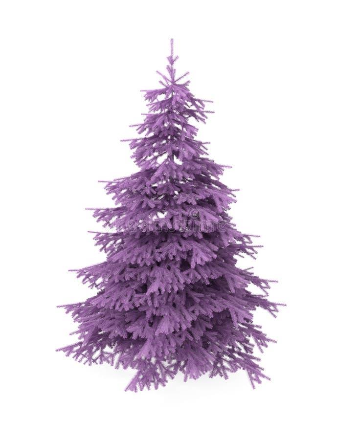 Kerstboom, purple, die op wit wordt geïsoleerdn vector illustratie