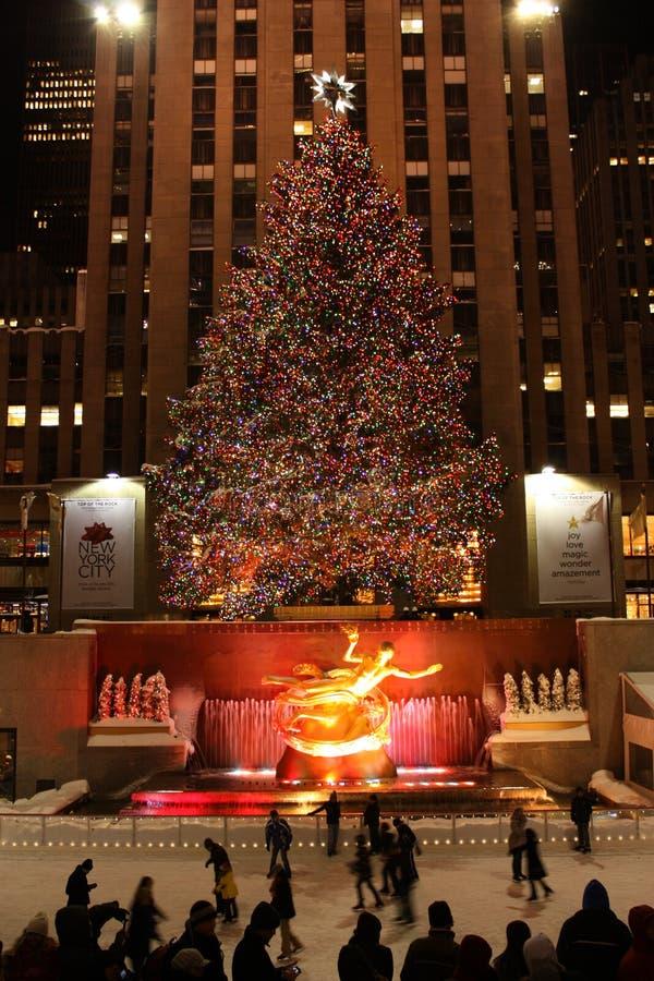 Kerstboom in Rockefeller royalty-vrije stock foto