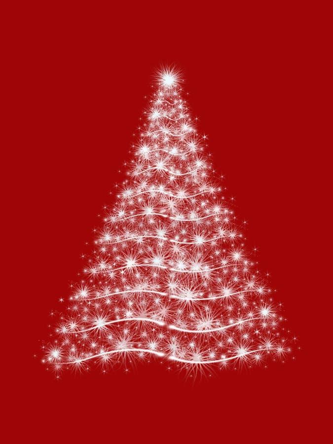 Kerstboom in rood royalty-vrije illustratie