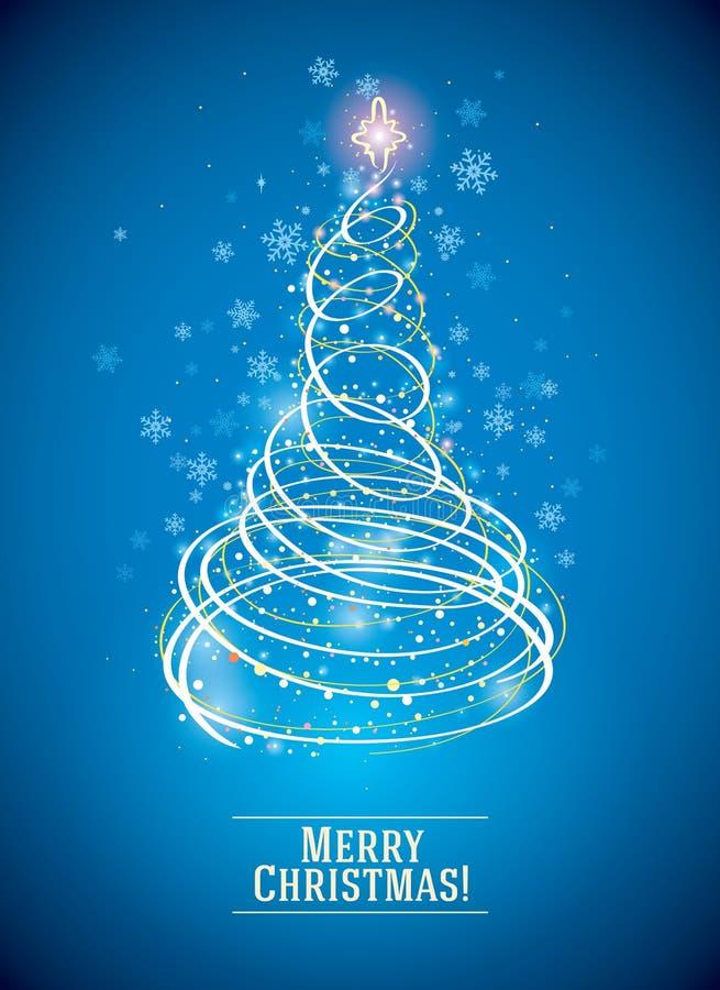 Kerstboom, in symbolische stijl vector illustratie