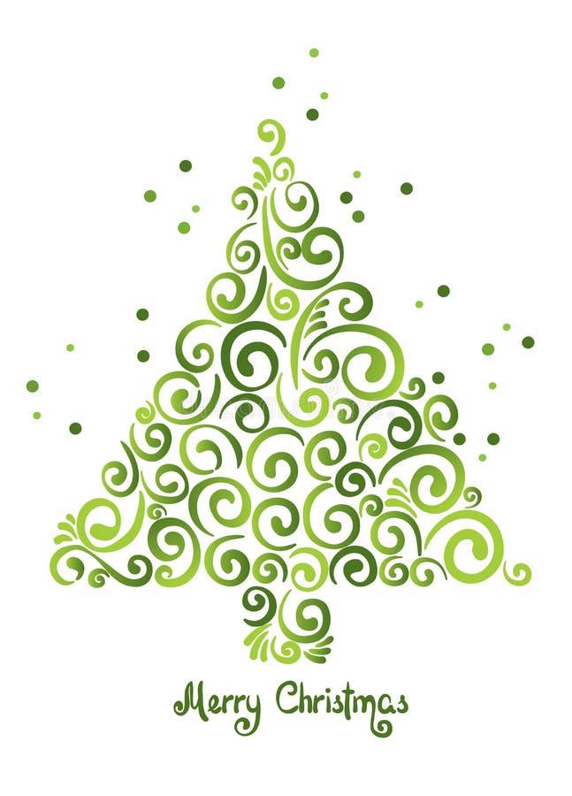 Kerstboom van krullen royalty-vrije illustratie