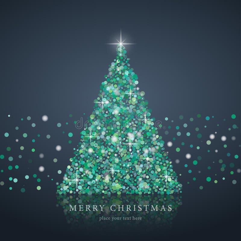 Kerstboom van lichte vectorachtergrond vector illustratie