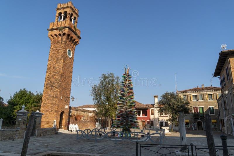 Kerstboom van Murano glass royalty-vrije stock foto's