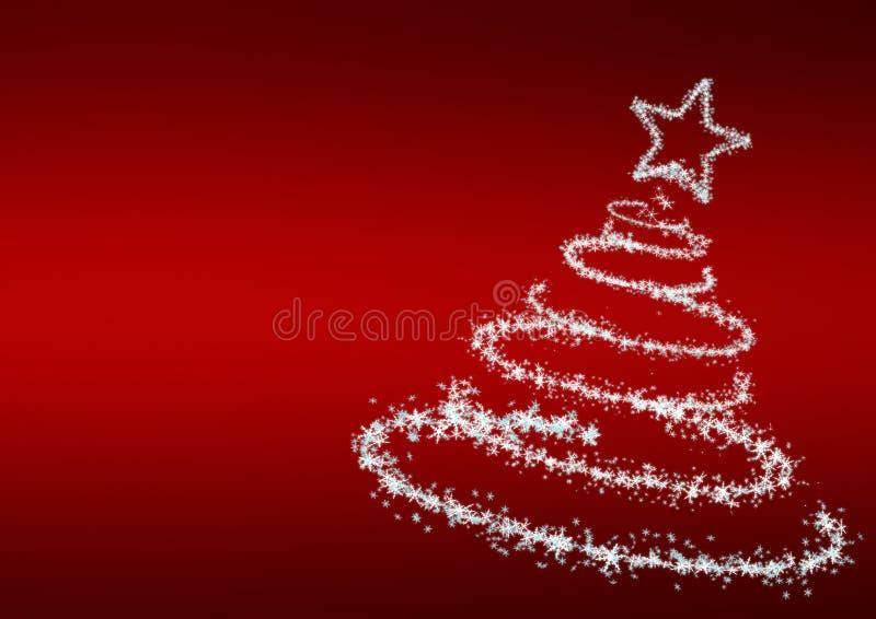 Kerstboom van sneeuwvlokken stock illustratie