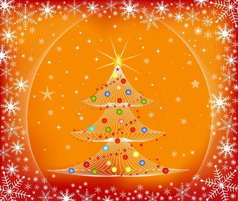 Kerstboom - vector royalty-vrije illustratie