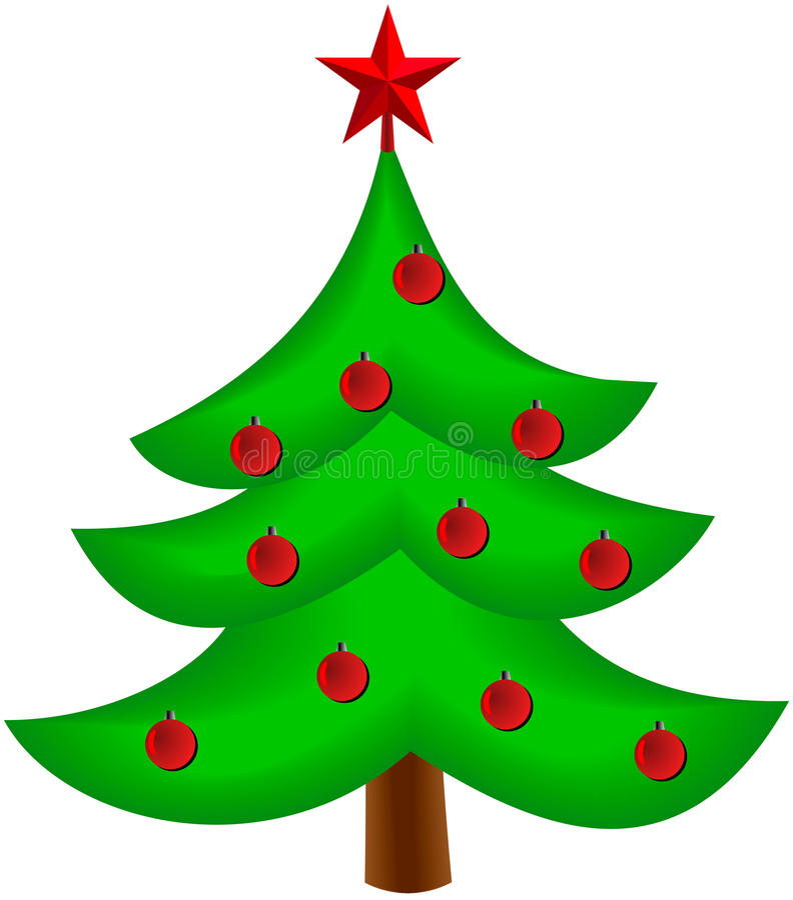 Kerstboom vectorbeeld vector illustratie