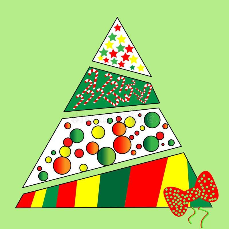 Kerstboom voor een deel royalty-vrije illustratie