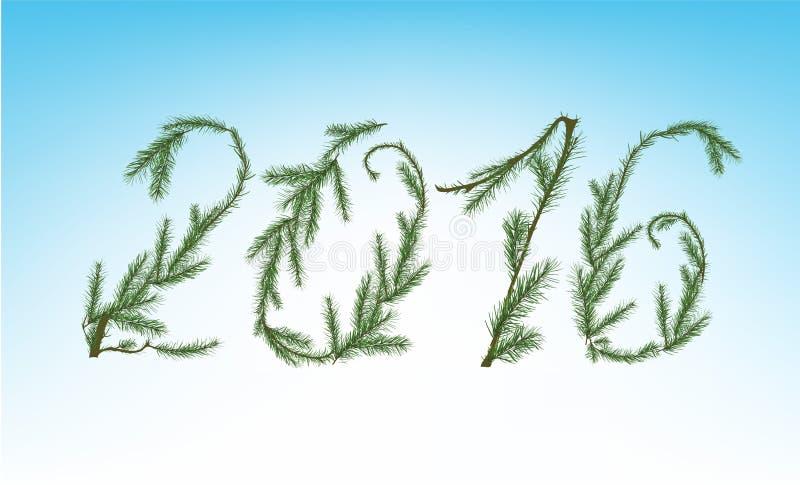 Kerstboomcijfers vector illustratie