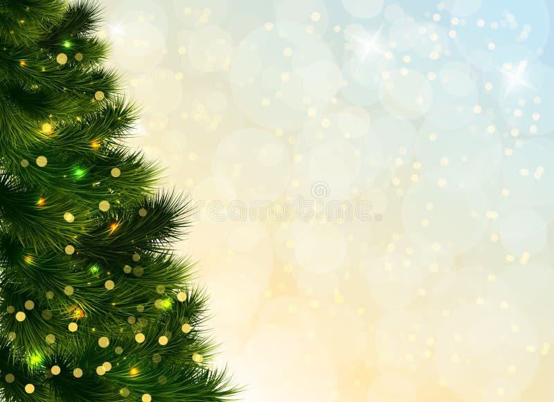 Kerstboommalplaatje vector illustratie