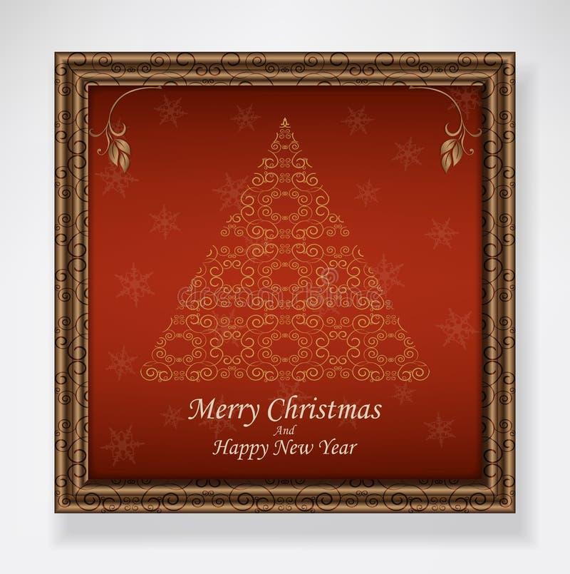 Kerstboomrood stock illustratie