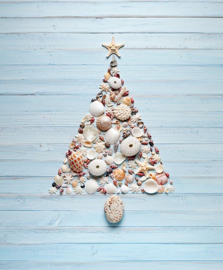 Kerstboomshells Achtergrond stock foto's