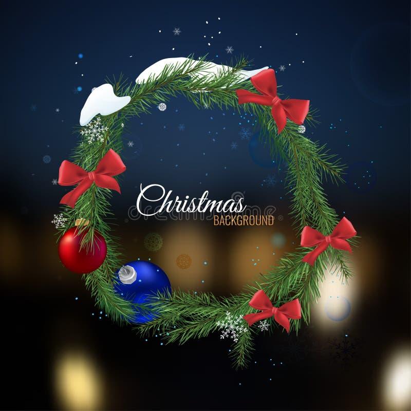 Kerstboomslinger vector illustratie