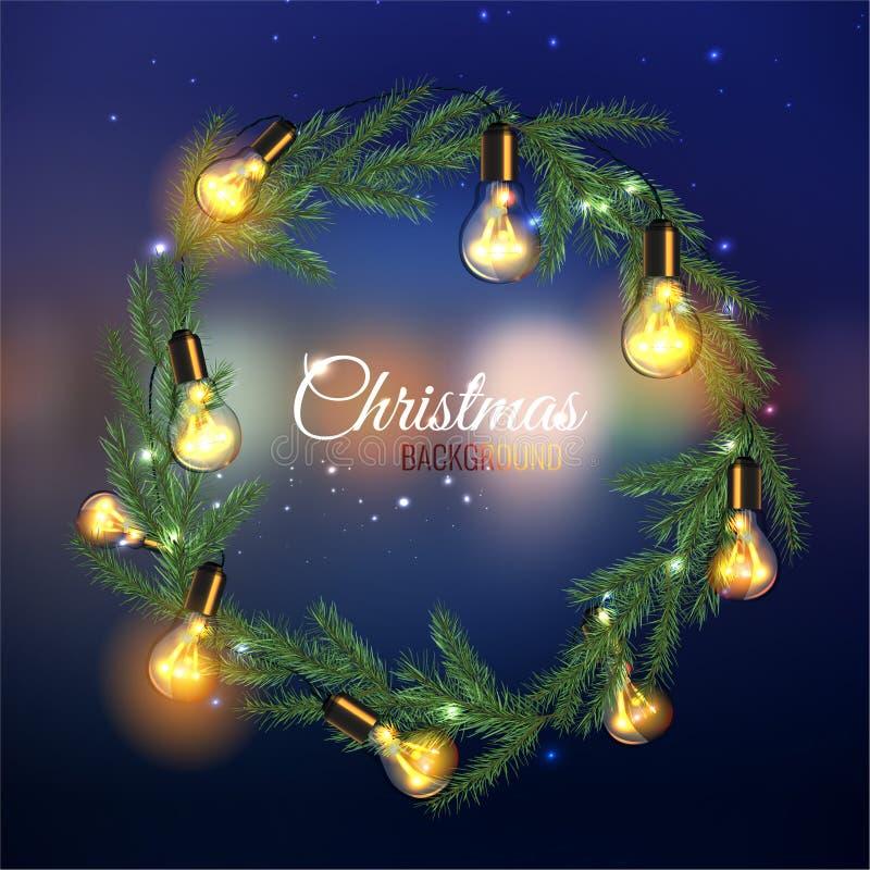 Kerstboomslinger royalty-vrije illustratie