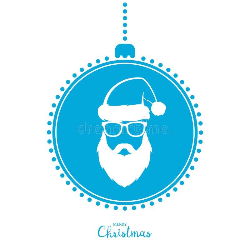 Kerstboomstuk speelgoed met het beeld van modieuze Santa Claus royalty-vrije illustratie