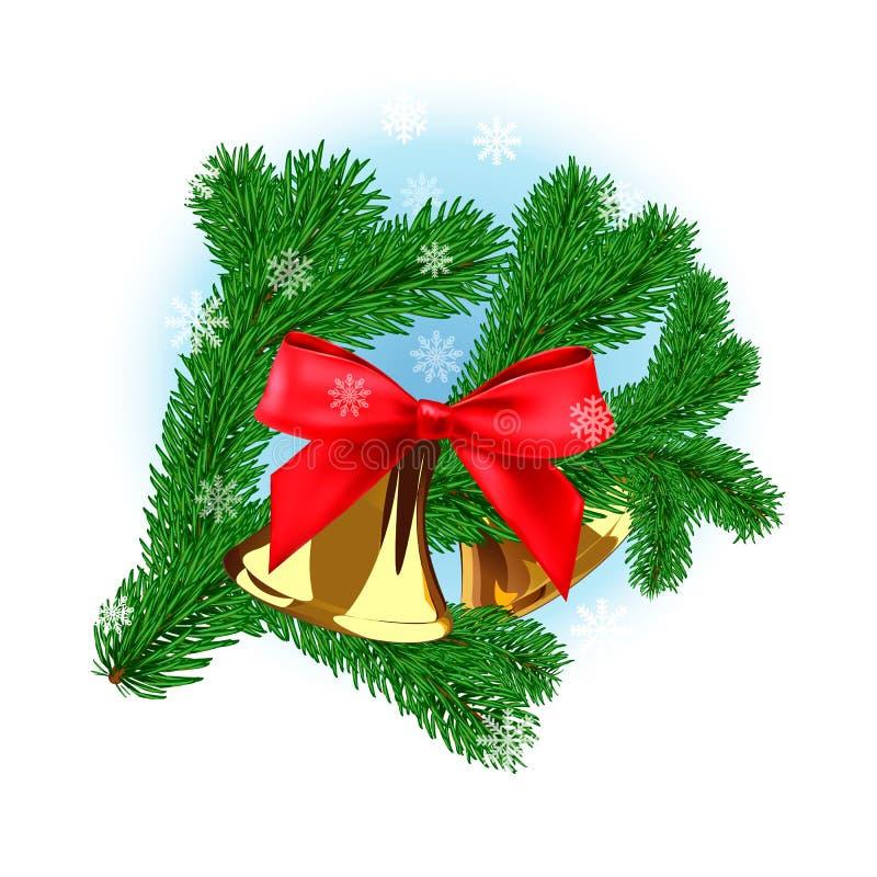 Kerstboomtak royalty-vrije illustratie