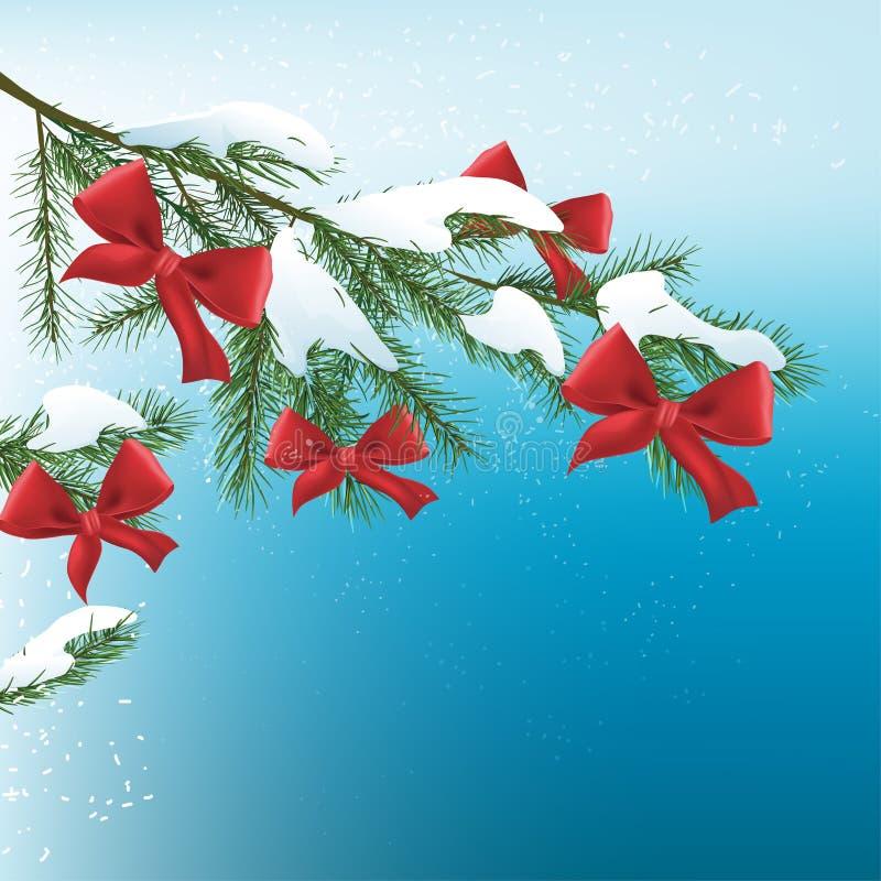 Kerstboomtak stock illustratie