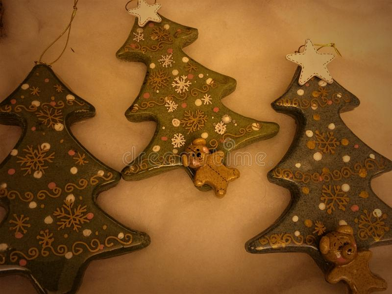 kerstboomversieringen stock foto's