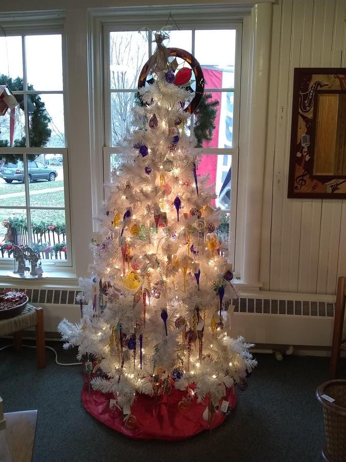 Kerstboomwit royalty-vrije stock foto