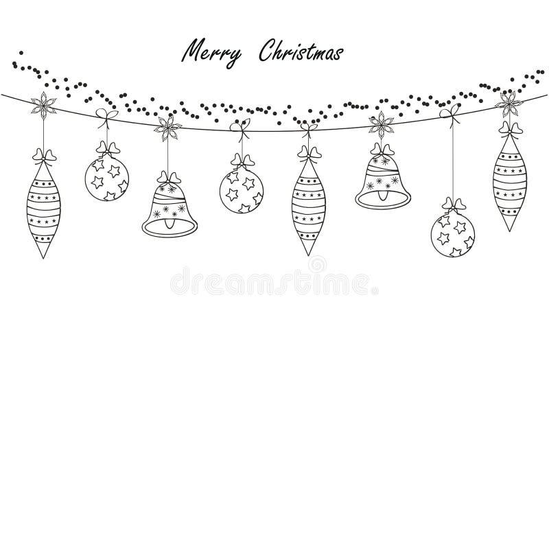 Kerstkaart vector illustratie