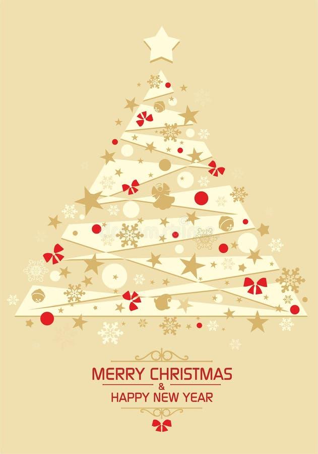 Kerstkaart 4 stock illustratie