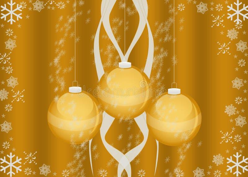 Kerstkaart/behang stock afbeelding