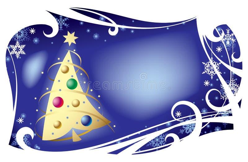 Kerstkaart I vector illustratie