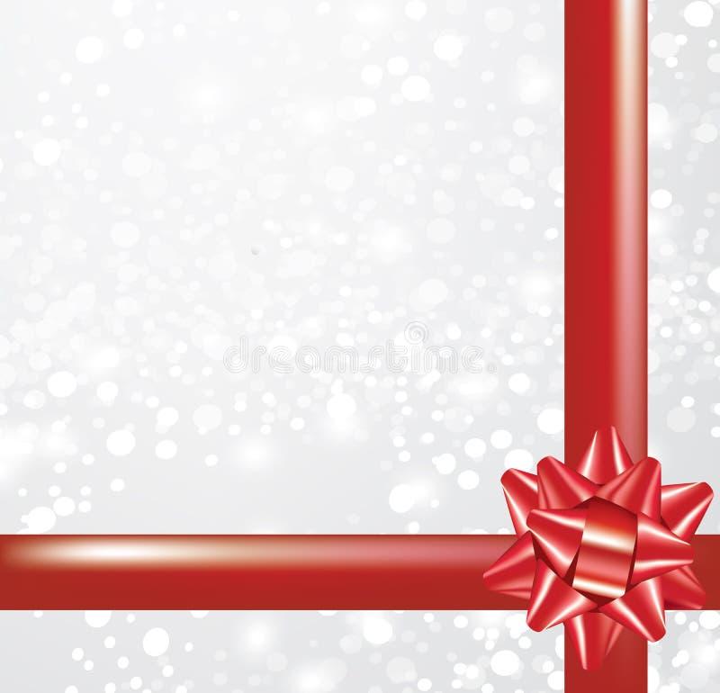Kerstkaart met boog vector illustratie