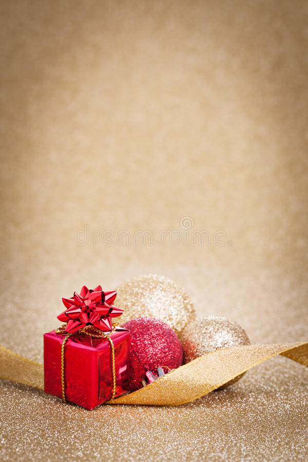 Kerstkaart met heden royalty-vrije stock fotografie