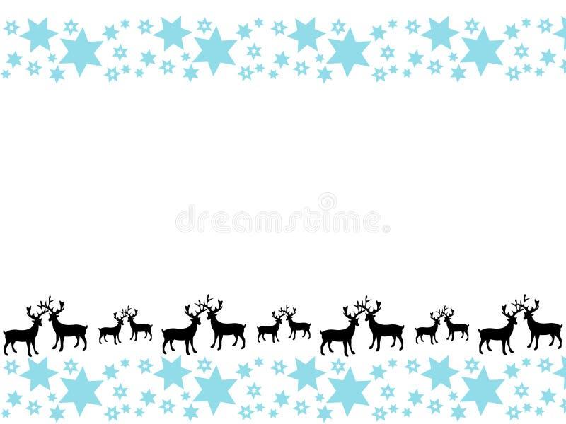 Kerstkaart met ornamenten met feestelijk ontwerp Vlak vectorontwerp royalty-vrije illustratie