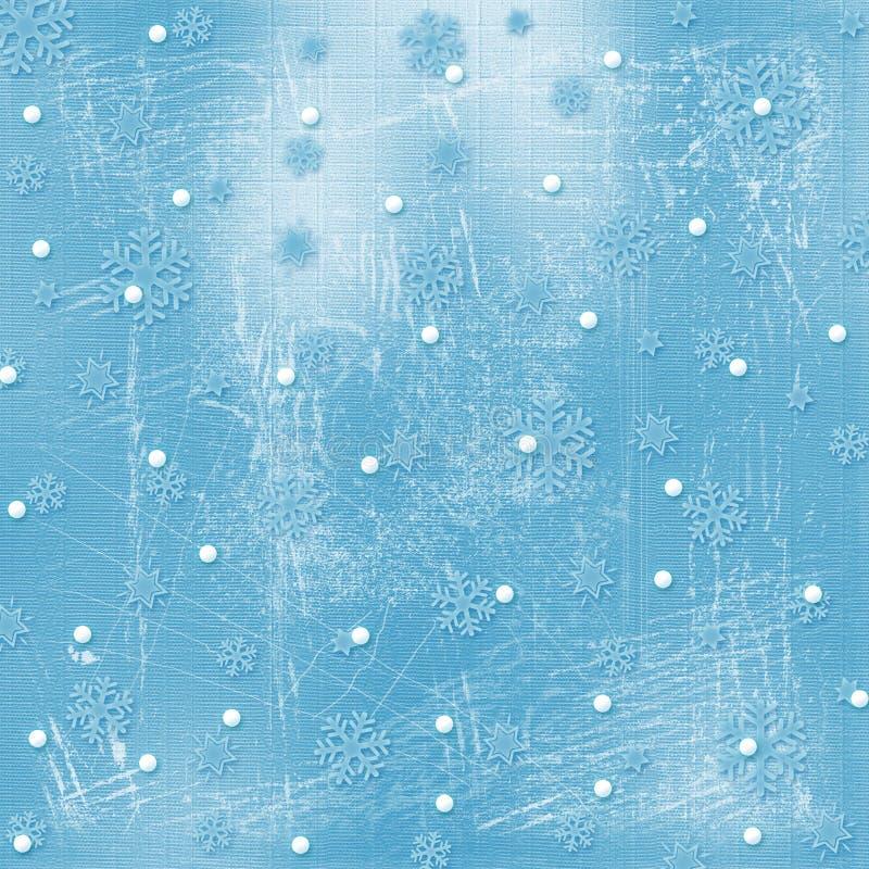 Kerstkaart met sneeuwvlokken vector illustratie