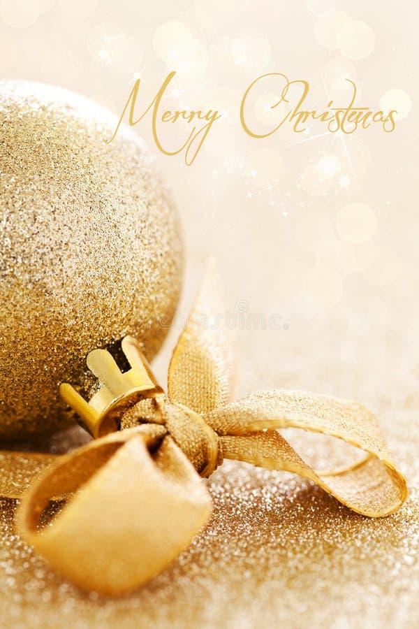 Kerstkaart met tekst royalty-vrije stock afbeeldingen
