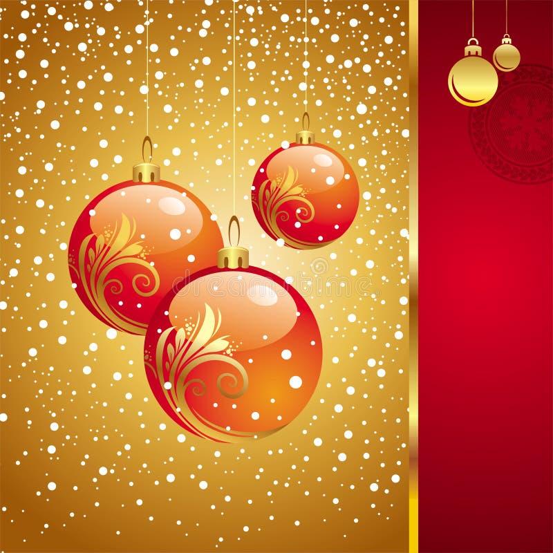 Kerstkaart met vakantiespeelgoed royalty-vrije illustratie