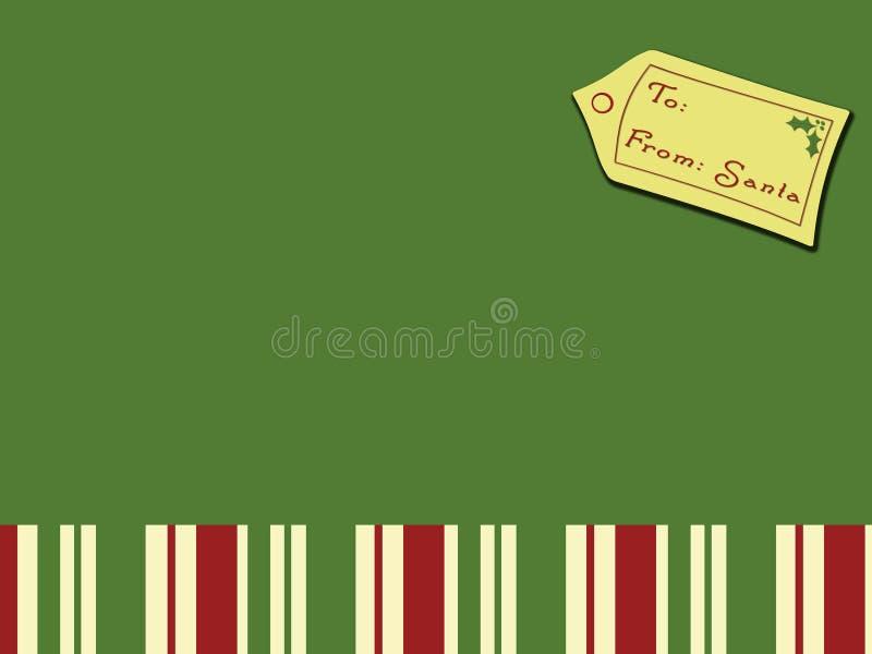 Kerstkaart van Kerstman royalty-vrije stock afbeelding