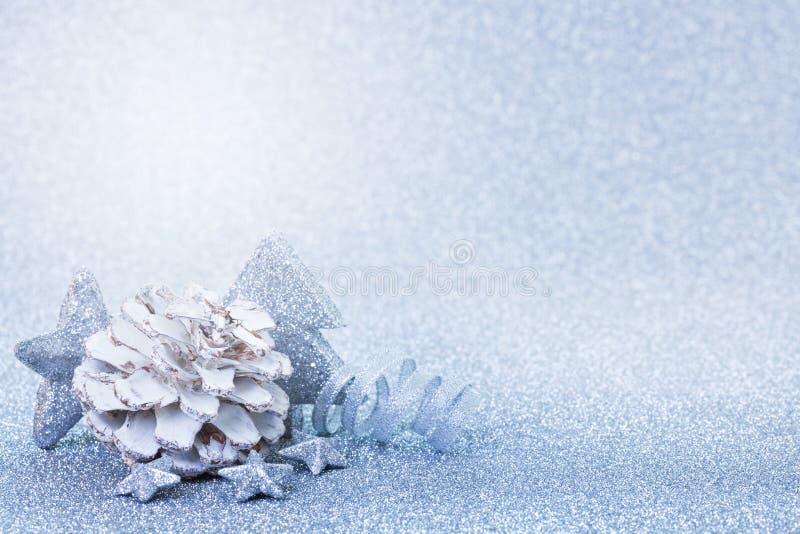 Kerstkaartblauw stock fotografie