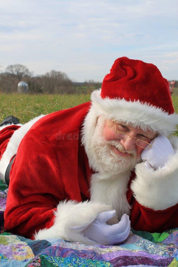 Kerstman 3 van het land stock afbeelding