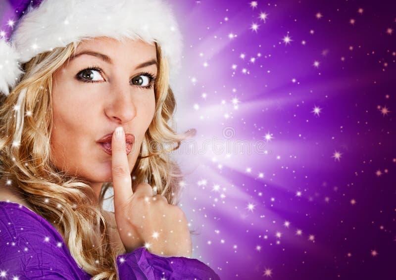 Kerstman 6_violet stock fotografie