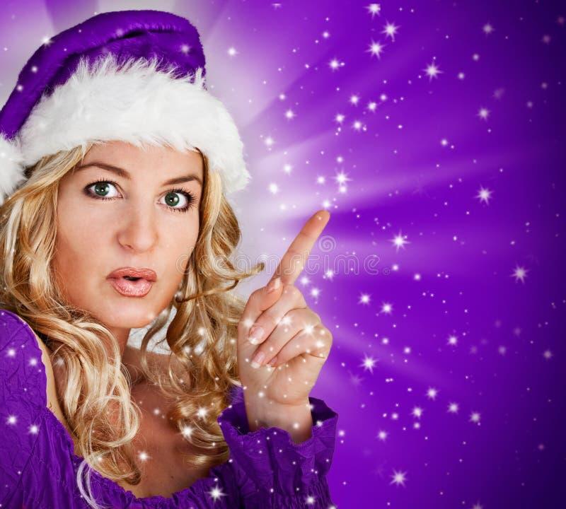 Kerstman 7_violet royalty-vrije stock foto