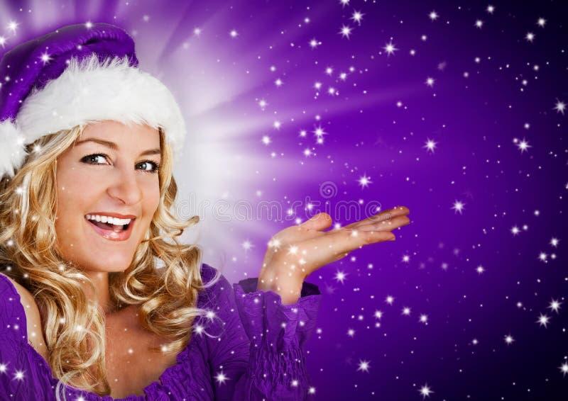 Kerstman 8_violet 2 royalty-vrije stock afbeeldingen
