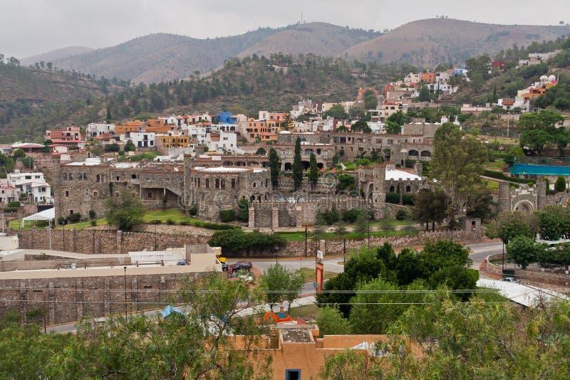 Kerstman Cecilia Castle Guanajuato Mexico stock foto's