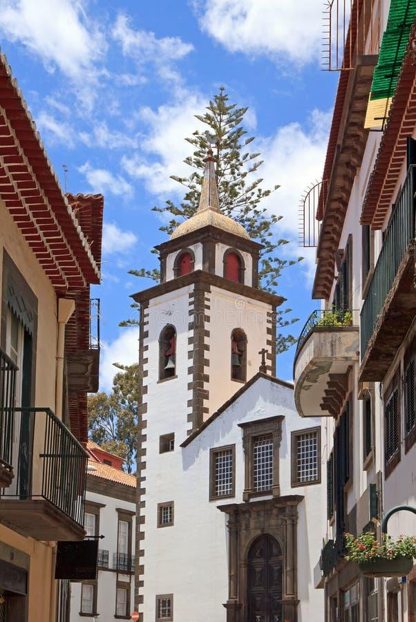 Kerstman Clara Church in Funchal (Madeir royalty-vrije stock foto's