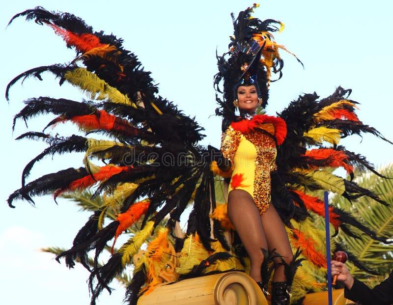 Kerstman Cruz DE Tenerife Carnaval stock afbeelding