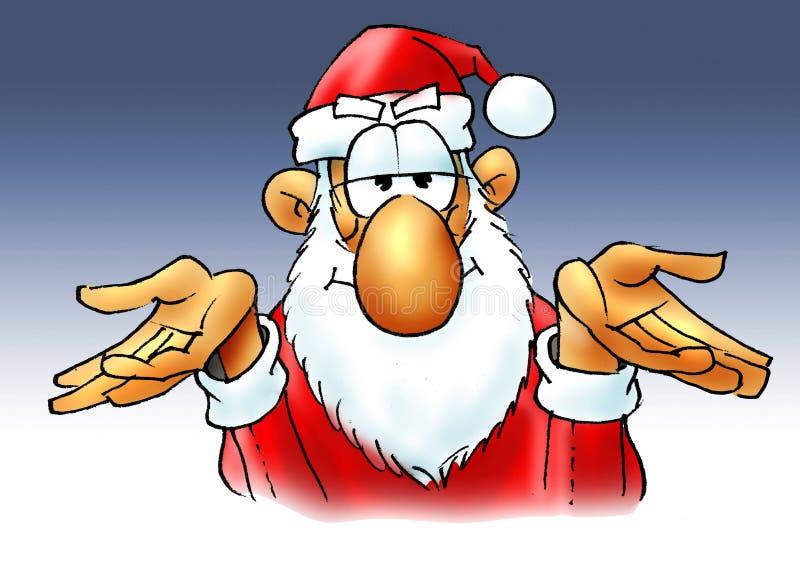 Kerstman. Dat is allen. vector illustratie