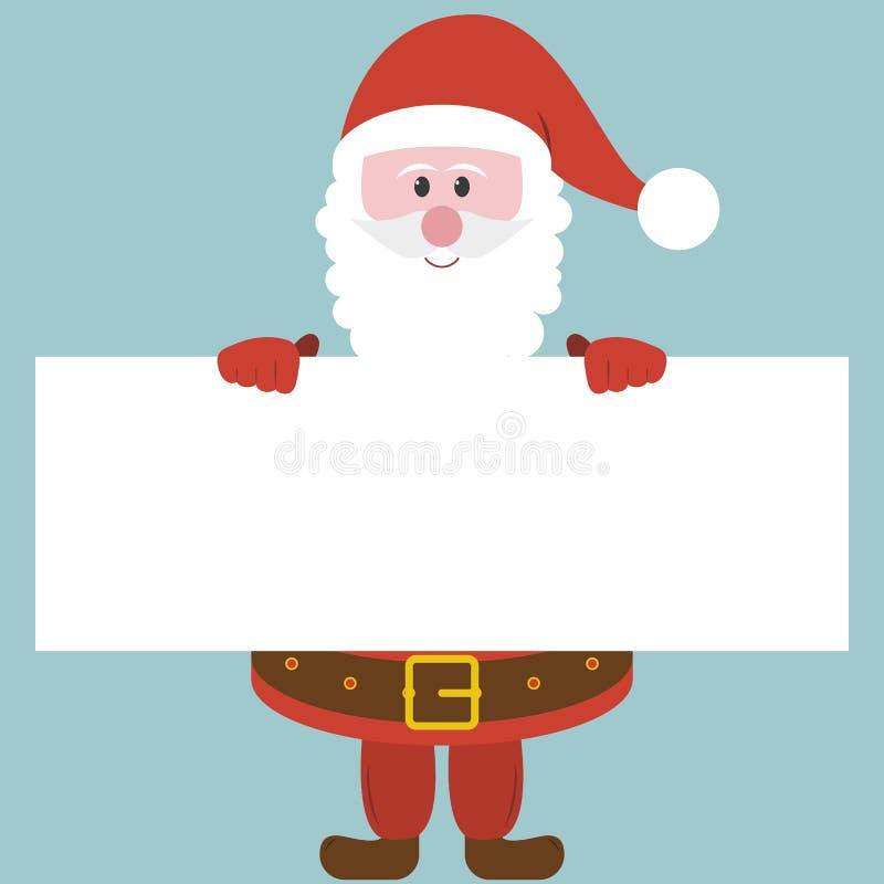 Kerstman die Document houden royalty-vrije stock foto's